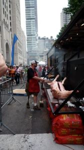 Pig in the park at the Big Apple BBQ