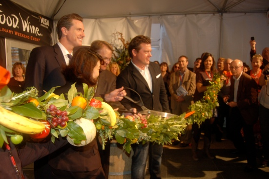 Mayor Newsom and Hosts