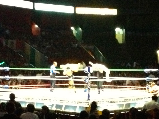 Luchadores in the ring