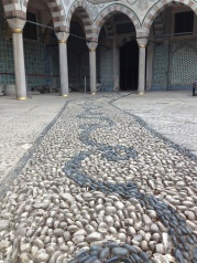 The Sultan's courtyard. Where the Harem walked.