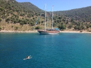 Roxie in the Med. Turquoise Coast.