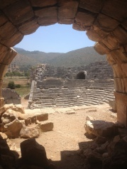 Patara. Gladiators fought here.
