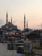 Ramadan banner over the Blue Mosque.